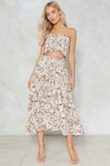 NASTY GAL On the Grow Floral Top and Skirt Set