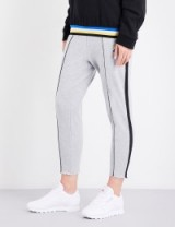 P.E NATION Deuce marl cotton-jersey jogging bottoms   grey joggers   sports pants