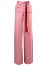 VALENTINO Pink wide-leg silk trousers   luxurious silky pants