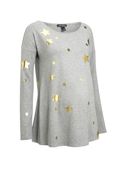 Isabella Oliver ROSIE MATERNITY PRINT TOP ~ pregnancy fashion ~ star printed tops - flipped