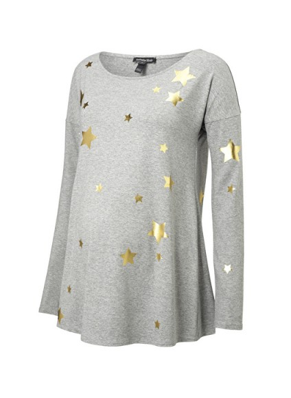 Isabella Oliver ROSIE MATERNITY PRINT TOP ~ pregnancy fashion ~ star printed tops