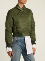 BALENCIAGA Scarf bomber | khaki-green jackets