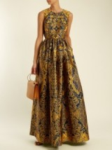 MARY KATRANTZOU Shaw sleeveless Cards-jacquard gown ~ luxurious printed fabrics ~ luxe gowns