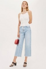 Topshop Shirred Corset Camisole Top