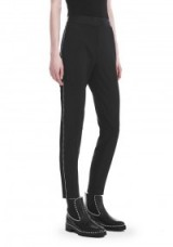 Alexander Wang SLIM FIT TROUSERS WITH BALL CHAIN TRIM