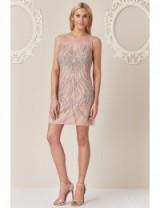 Stephanie Pratt Embellished Mini Dress Nude