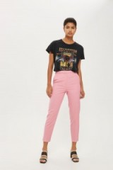 Topshop Suit Cigarette Trousers   pink tapered crop leg pants