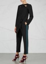 ROKSANDA Surikov black cropped cady trousers