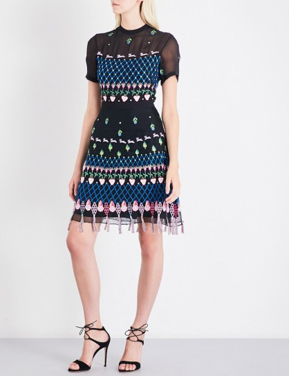 TEMPERLEY LONDON Woodland embroidered chiffon and silk-organza mini dress