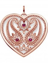 THOMAS SABO Oriental Heart 18ct rose gold plated sterling silver pendant