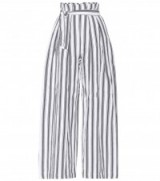 THREE GRACES LONDON Striped linen and cotton trousers | wide leg pants