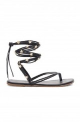 TKEES LILY WRAP SANDAL | star embellished strappy flats