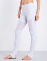VARLEY Hillcrest stretch-jersey leggings   white snake print yoga pants   sportswear   sports fashion