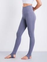 VARLEY Oak fleece leggings   slate blue yoga pants   sports fashion   sportswear