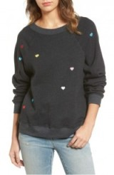 WILDFOX Sommers Sweater – Heart Embroidered Pullover
