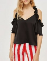 WOMENS SML Cold-shoulder satin top