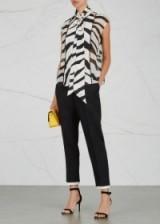 LANVIN Zebra-print silk chiffon blouse
