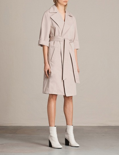 ALLSAINTS Luna cotton-twill trench coat – dusty-pink coats