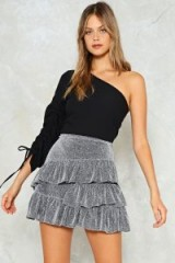 Nasty Gal Always Remember One Shoulder Top ~ black going out tops