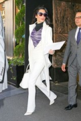 Amal Clooney style…looking chic in this white outfit