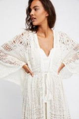 FREE PEOPLE Dream Catcher Kimono ~ long lace kimonos