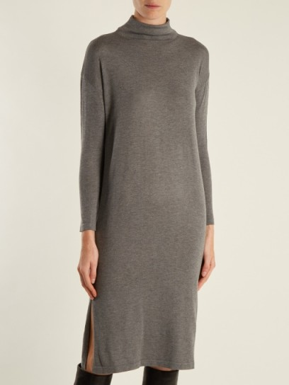 WEEKEND MAX MARA Argo dress ~ grey knit dresses
