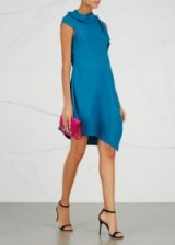 ROLAND MOURET Arundel pacific blue asymmetric dress ~ contemporary evening wear