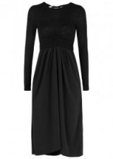 ISABEL MARANT ÉTOILE Asak crepe and fine-knit midi dress ~ chic dresses ~ lbd