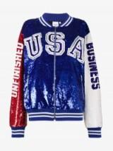 Ashish USA Unfinished Business Sequin Varsity Jacket