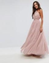 ASOS PREMIUM Tulle One Shoulder Maxi Dress