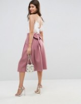 ASOS Scuba Prom Skirt with Bow Back Detail