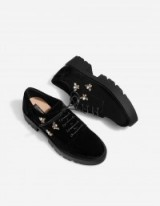 STRADIVARIUS Bejewelled brogues with track soles