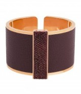 Henri Bendel ~ BENDEL ROCKS BOWERY CUFF – burgundy cuffs