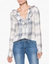 Paige Denim BERNETTE SHIRT – BLANC DYLAN PLAID #tartan #shirts #casual #ruffled