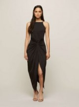 MISS SELFRIDGE Black Twist Drape Maxi Dress