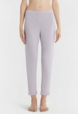 BLOOMING MACRAME' LILAC MODAL JERSEY PYJAMA TROUSERS WITH SATIN TRIM – LA PERLA pyjamas – luxury nightwear – sleepwear bottoms