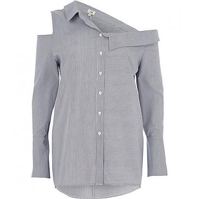 River Island Blue stripe deconstructured shirt #shirts #casual #fashion