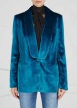 SELF-PORTRAIT Blue velvet blazer