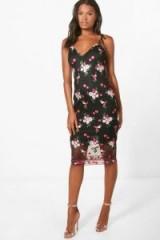 boohoo Boutique Eve Embroidered Midi Dress