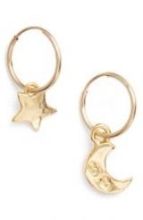 BRITT BOLTON Moon & Star Drop Earrings – small delicate jewellery