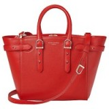 Aspinal of London Marylebone Midi Leather Tote Bag, Carrera Scarlet ~ chic red bags