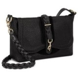 Hill and Friends Lucky Leather Shoulder Bag, Liquorice Black