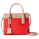 kate spade new york Cameron Street Mini Candace Leather Satchel, Prickly Pear