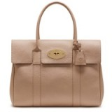 Mulberry Bayswater Small Classic Grain Leather Grab Bag, Rosewater