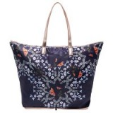 Ted Baker Wilford Kyoto Gardens Fold Shopper Bag, Mid Blue / pretty floral shoppers
