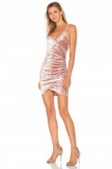 by the way. ANETTE RUCHED MINI DRESS – pink velvet evening dresses