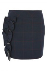 TOPSHOP Check Frill Detail Skirt