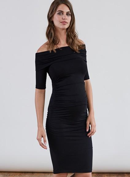 Isabella Oliver CLIFTON MATERNITY DRESS – lbd – off shoulder dresses