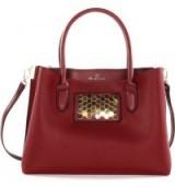 Céline Dion Symphony Faux Leather Satchel | burgundy handbags