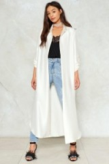 NASTY GAL Come a Long Way Satin Duster Jacket